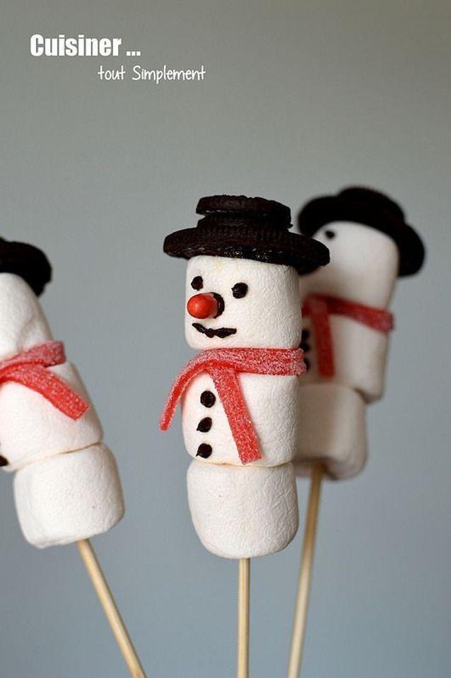 Sucette bonhomme de neige