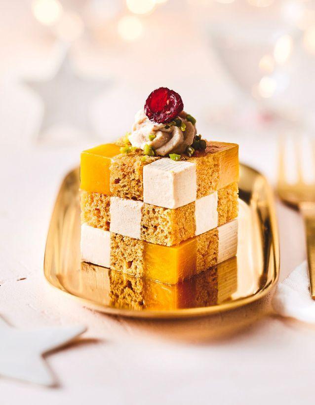 Rubik's Cube de foie gras de canard