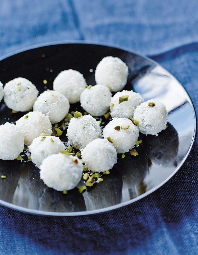Du chocolat blanc pour une recette bluffante de truffes immaculées