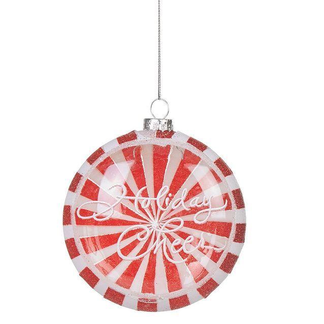 Boule de Noël en verre plate