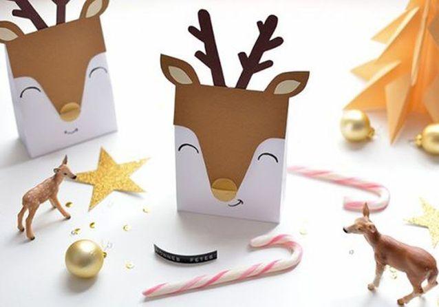 Bricolage de Noël : des paquets cadeaux en forme de renne   On se
