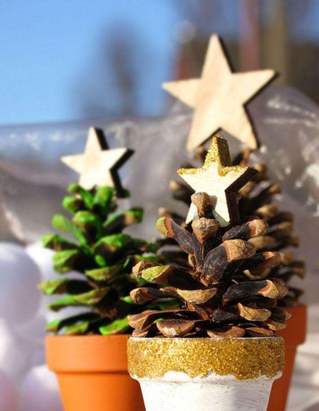 Bricolage De Noël : Des Pommes De Pin En Guise De Sapin