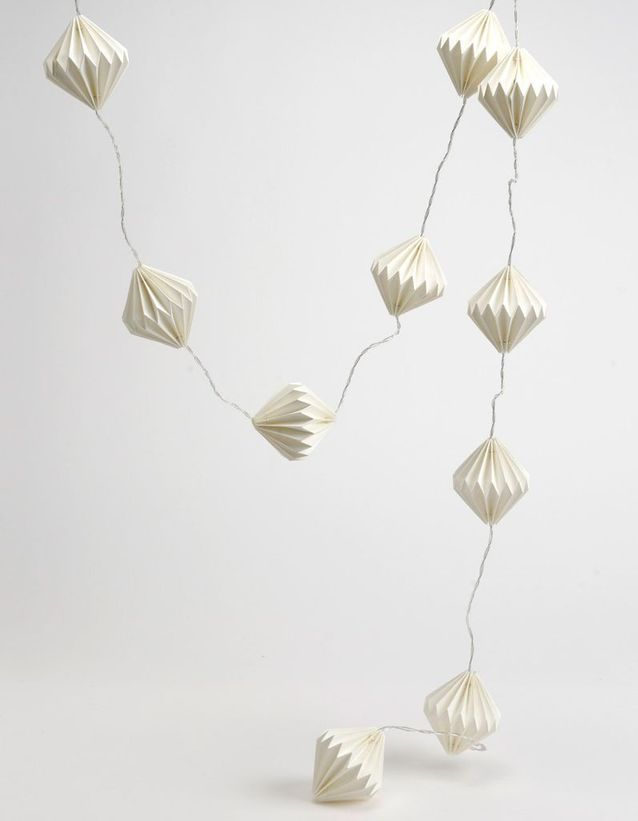 Guirlande boule façon origami