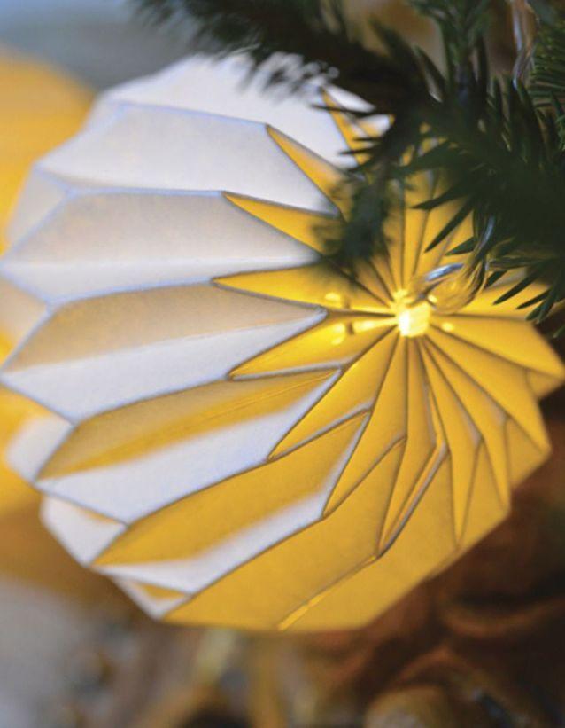 Guirlande boule origami