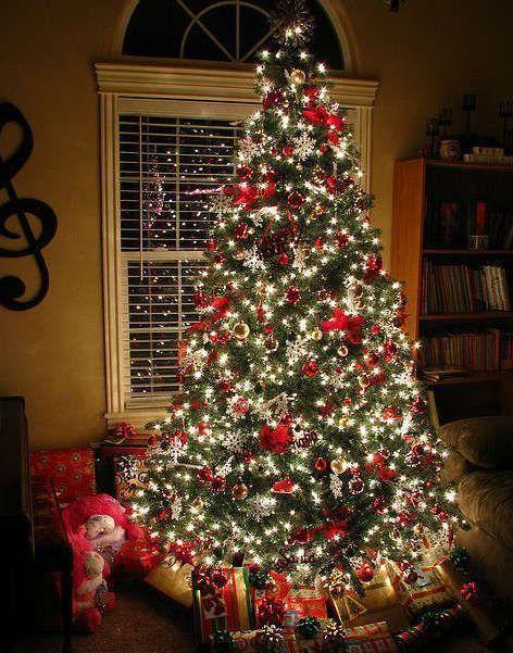 Sapin de Noel thème rouge