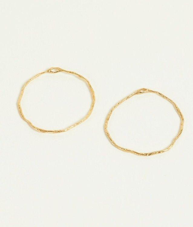 Boucles d'oreilles dorées LÕU YETU