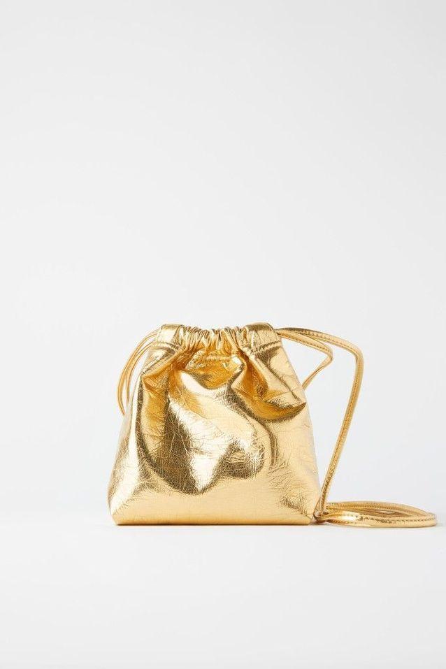 Bourse dorée Zara