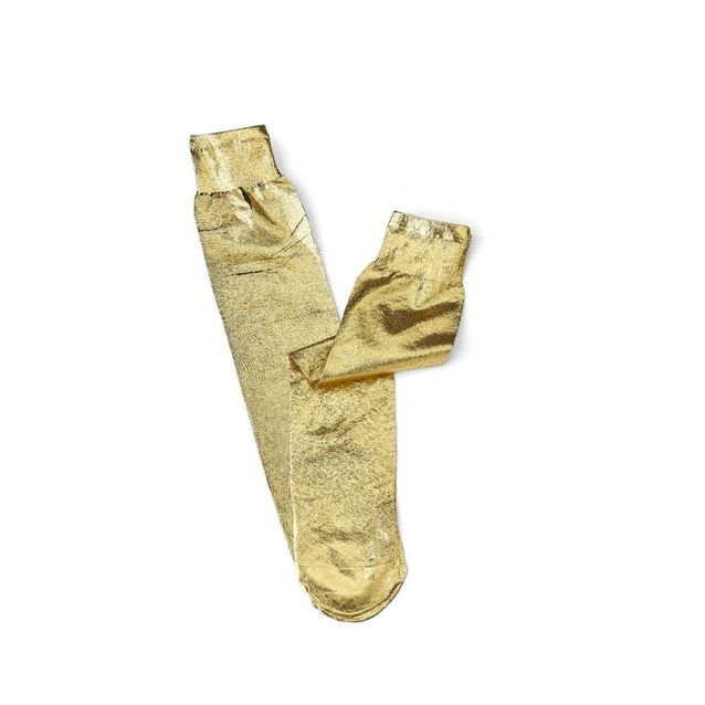 Chaussettes dorées forte forte