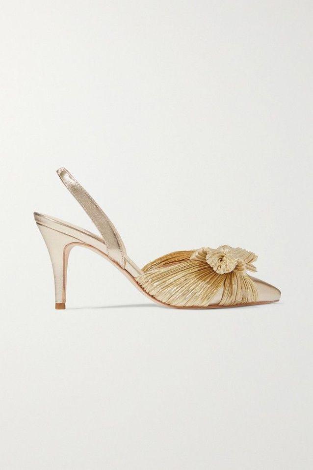Chaussures à talons dorées Loeffler Randall