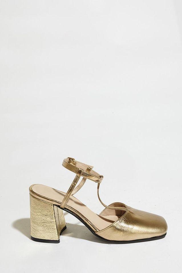 Chaussures à talons dorées Paul & Joe