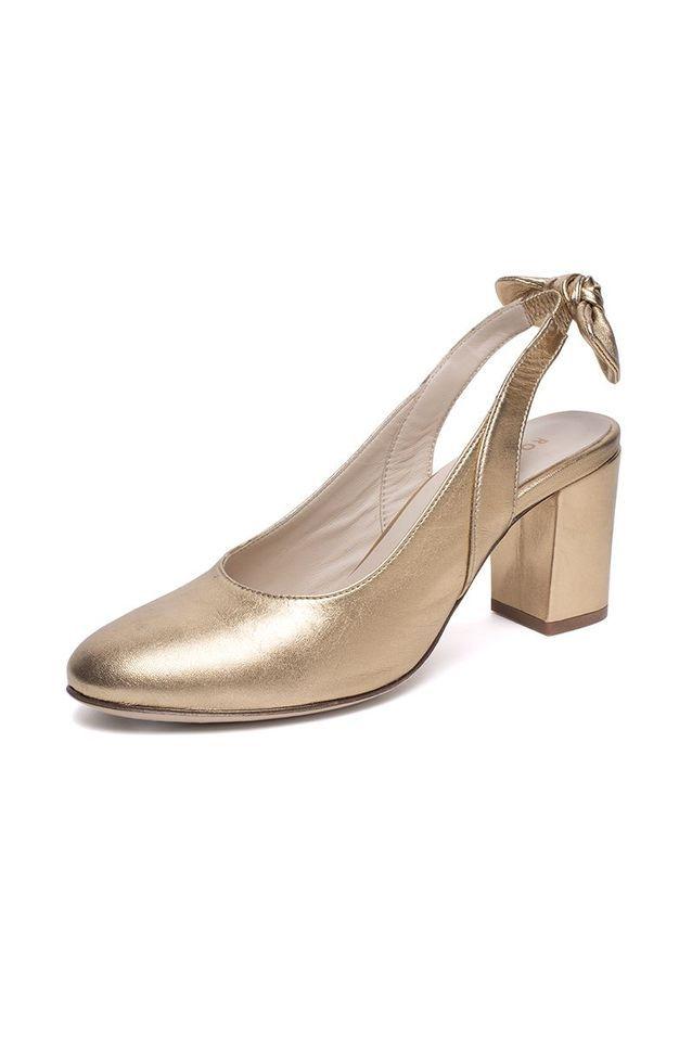 Chaussures à talons dorées Rosaé