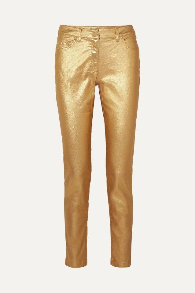 Pantalon doré Moschino