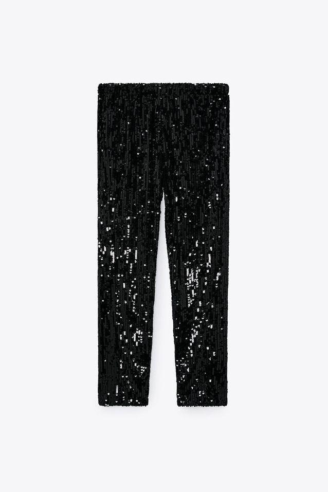 Pantalon à paillettes Zara