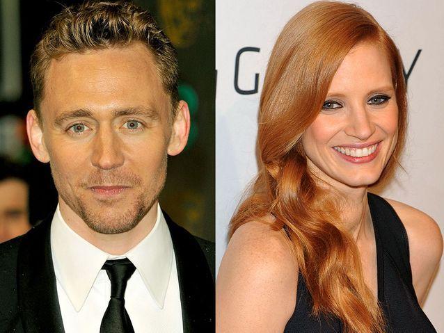 Jessica Chastain et Tom Hiddleston