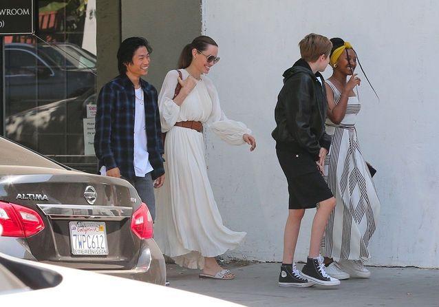 Angelina et ses enfants