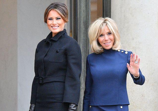 Brigitte Macron et Melania Trump : très complices lors de leur rencontre à l'Elysée