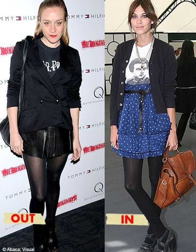 Icône de style : Chloë Sevigny out, Alexa Chung in