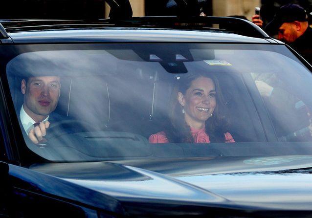 L'arrivée du prince William et Kate Middleton