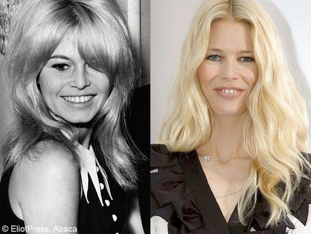 Brigitte Bardot et Claudia Schiffer