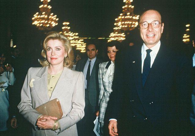 Jacques Chirac et Catherine Deneuve en 1977