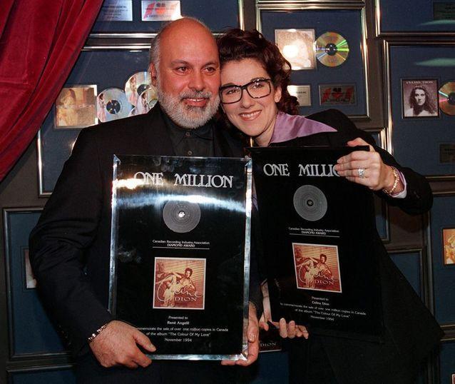 Céline Dion et René Angélil en 1994