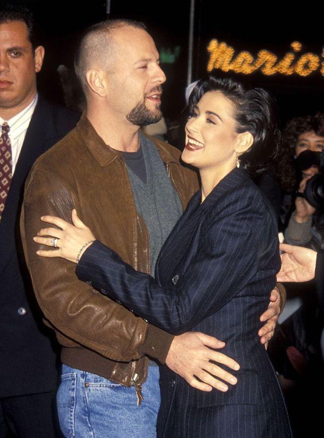 Demi Moore et Bruce Willis en 1992