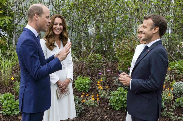 Emmanuel & Brigitte Macron rencontrent les Windsor