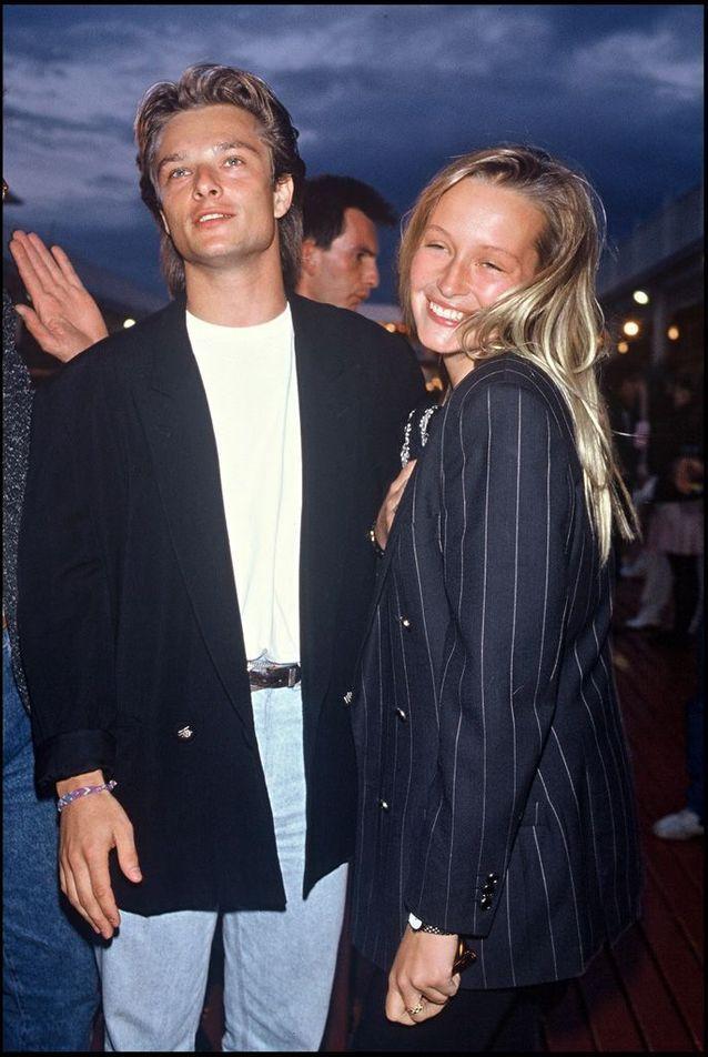 Estelle Lefébure et David Hallyday en 1988