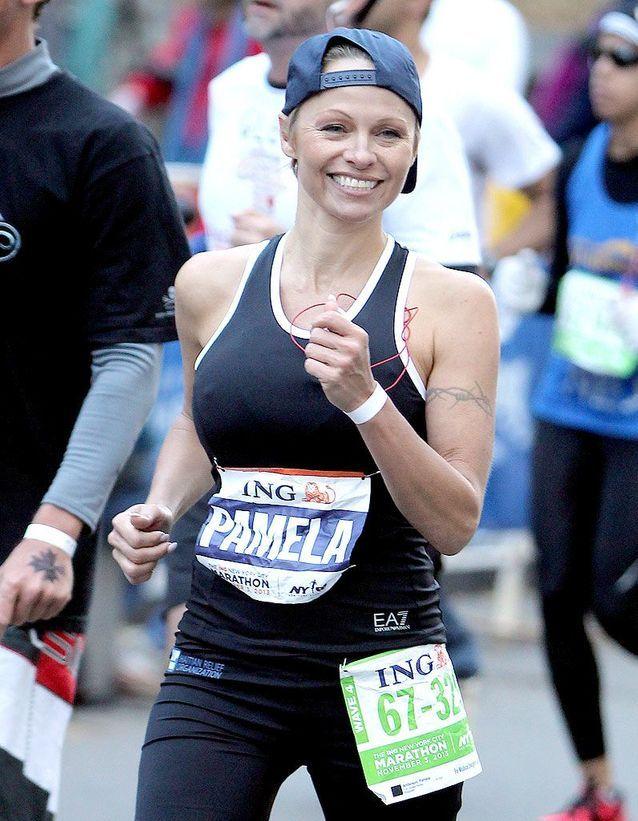 Pamela Anderson au marathon de NYC