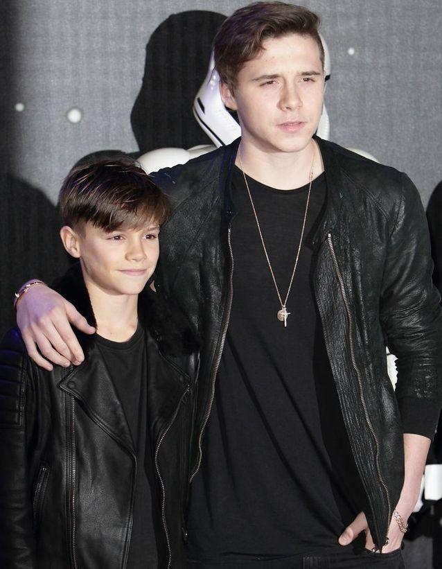 Brooklyn et Romeo Beckham
