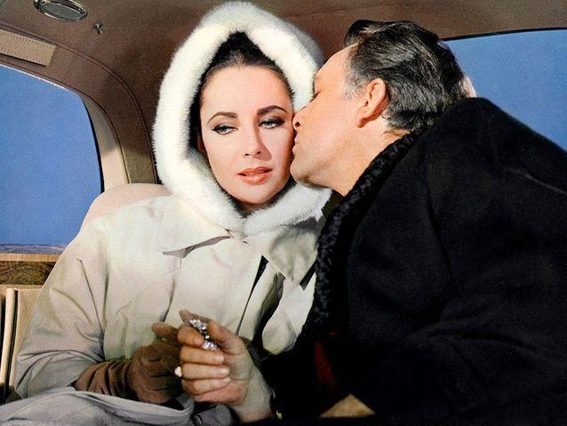 Elizabeth Taylor et Richard Burton en 1963