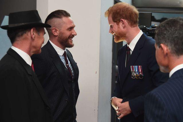 Le prince Harry et l'acteur Tom Hardy