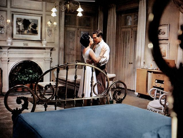 """Paul Newman et Elizabeth Taylor dans """"La chatte sur un toit brûlant"""" (1958)"""