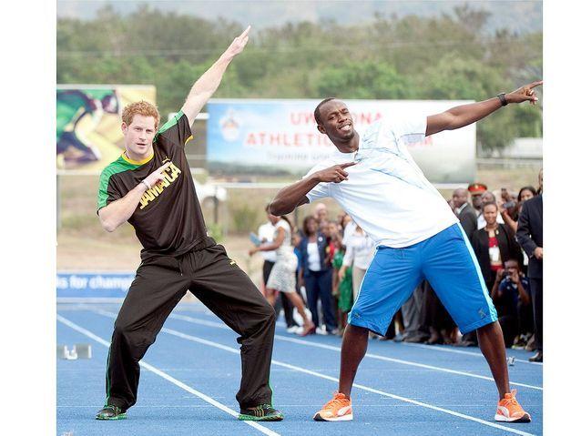 Avec Usain Bolt