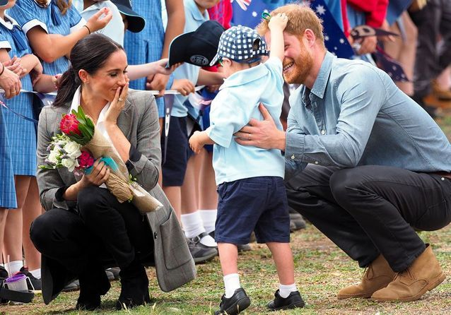 Harry et Meghan rencontrent des écoliers aborigènes
