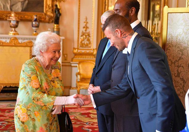 David Beckham et la reine d'Angleterre