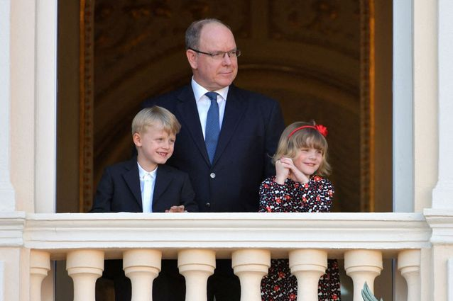 Le prince Albert II de Monaco et ses enfants