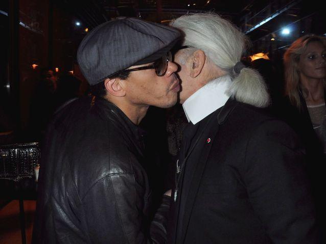 Avec Karl Lagerfeld