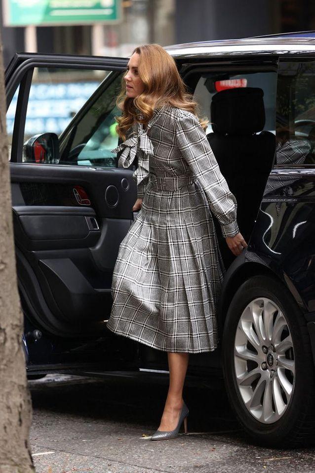 Kate Middleton lors de son arrivée