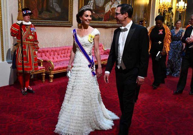 Kate Middleton : en pleine polémique, elle fait bonne figure au dîner d'Etat de Donald Trump