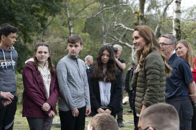 Kate Middleton rencontre les cadets de la Royal Air Force
