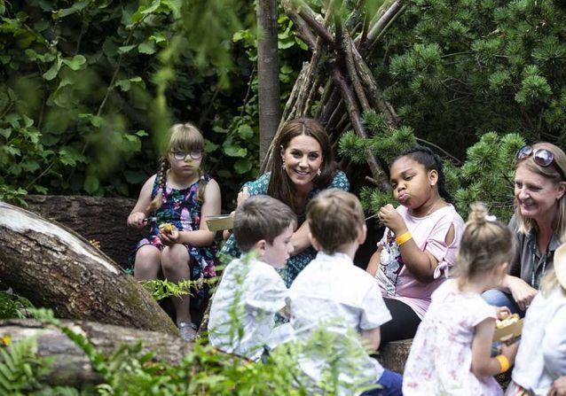 Kate Middleton et des écoliers
