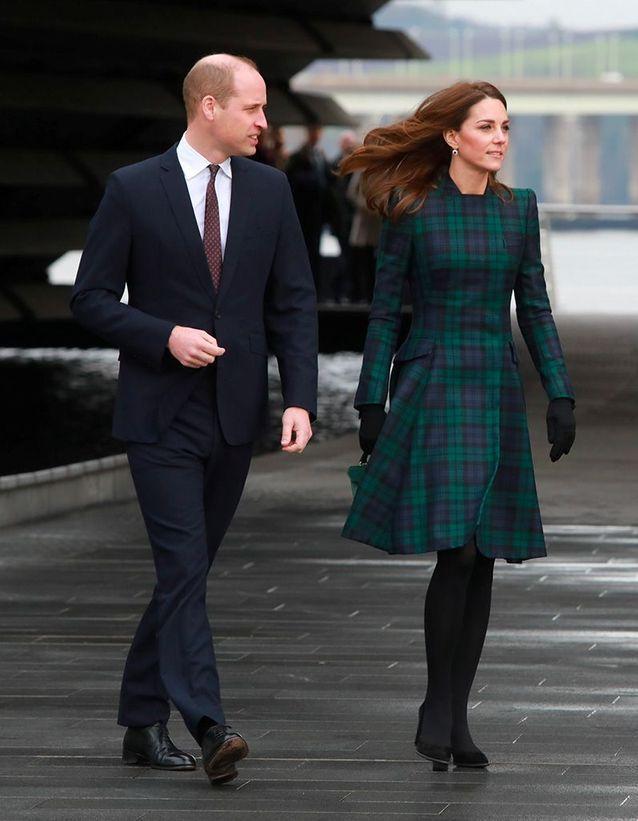 L'arrivée de Will et Kate à Dundee