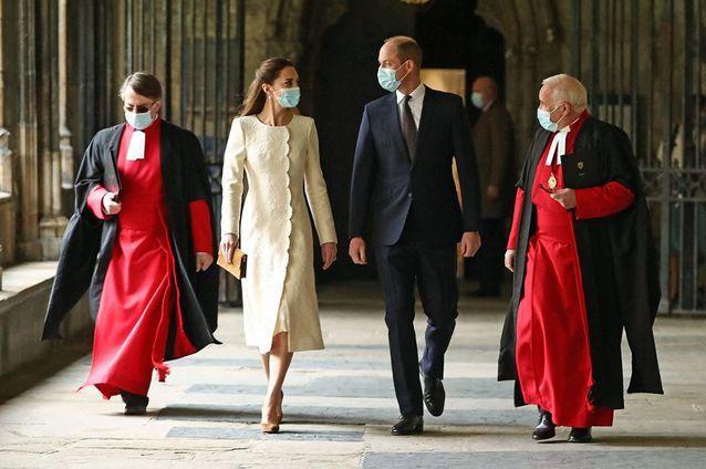 Kate Middleton et le prince William en visite à Westminster