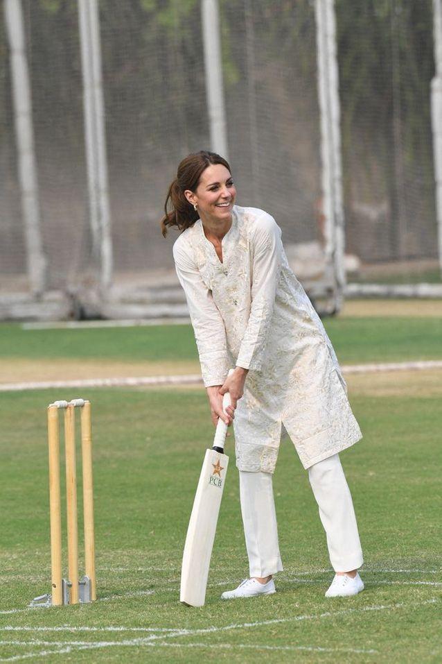 Kate Middleton a participé à un match de cricket