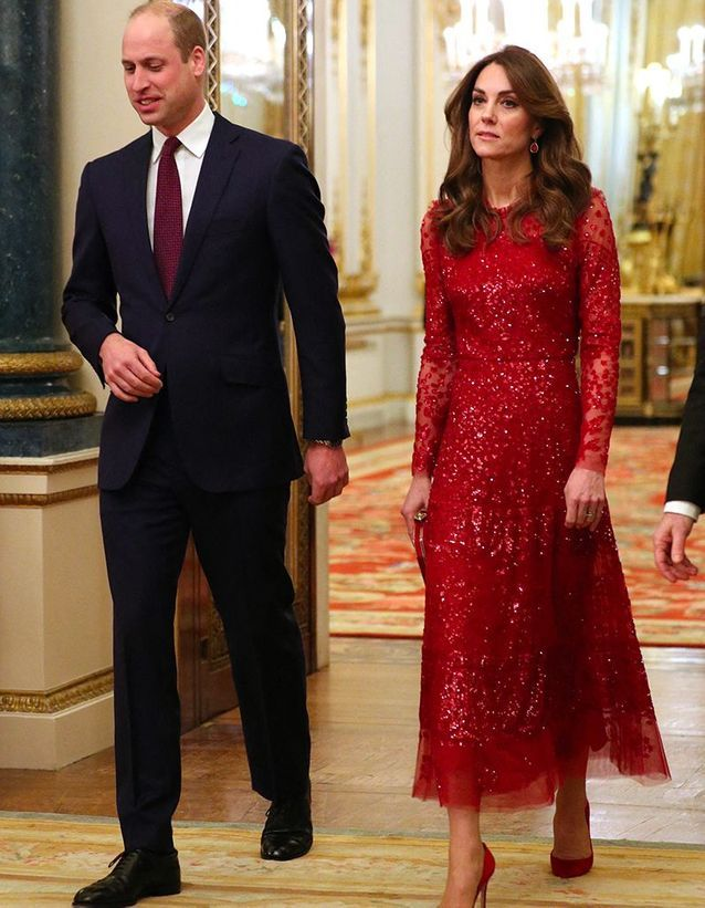 Kate Middleton et le prince William au palais de Buckingham