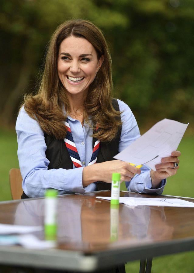 Kate Middleton a rendu visite à un groupe de scouts