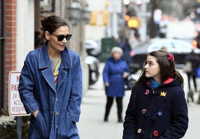 Katie Holmes et Suri Cruise: un duo complice à New York, loin de la Scientologie