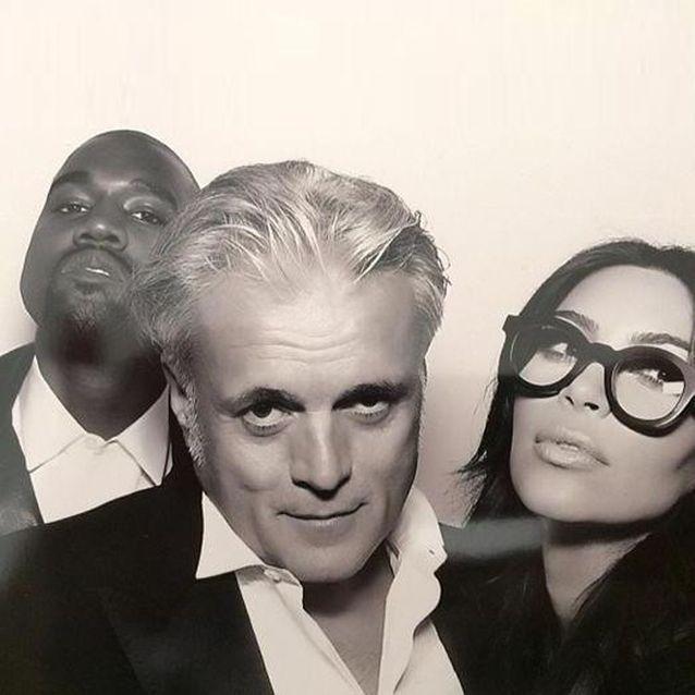 Kim Kardashian, Kanye West et Guiseppe Zanotti