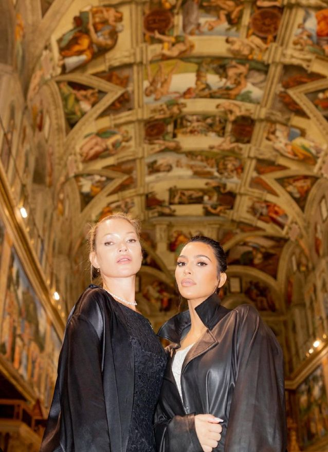 Kate Moss et Kim Kardashian visitent le Vatican